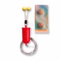Bubeník - Číhátko bateriové odpadávací s provázkem červené