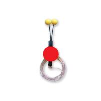 Bubeník - Číhátko odpadávací s provázkem červené 30mm