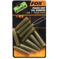 FOX - Převlek na závěsku na olovo Power grip tail rubbers trans khaki