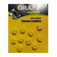 GRAFF - Plovoucí kukuřice žlutá 10ks