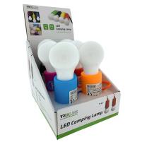 BC - Baterie - Svítilna LED bulb camping lamp - Červená
