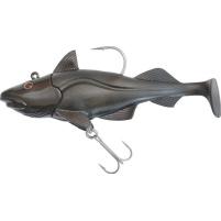 QUANTUM - Nástraha ryba Skrey shad 80g 12cm, černá jig + 2x ryba