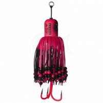 MADCAT - Sumcová chobotnička A-static Clonk Teaser s trojháčkem 200g-  fluo pink UV