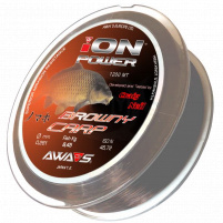 AWA-SHIMA - Silon ION Power Browny Carp - 0,25mm - 1200m
