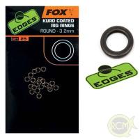 Fox - Kroužky Kuro coated rig rings 3,2mm