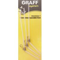 GRAFF - Průjezd zahnutý SPECIALIST Transparentní 15cm - 3ks