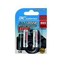 BC - Baterie - Nabíjecí NiMH mikrotužková (AAA) baterie BC batteries Infinite bal: 2ks